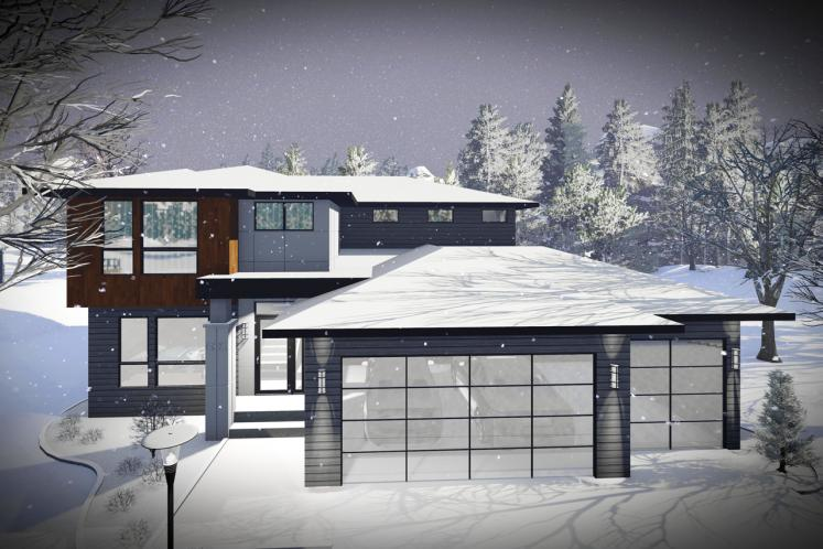 Contemporary House Plan -  40106 - Front Exterior