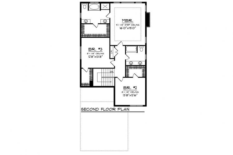Traditional House Plan -  40111 - 2nd Floor Plan