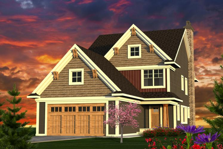 Craftsman House Plan -  40111 - Front Exterior