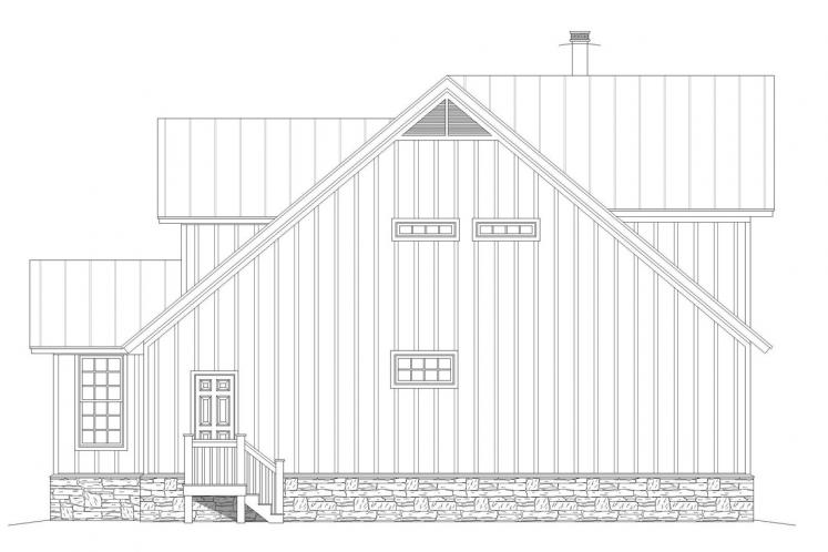 Country House Plan - Cypress Lake 40240 - Right Exterior