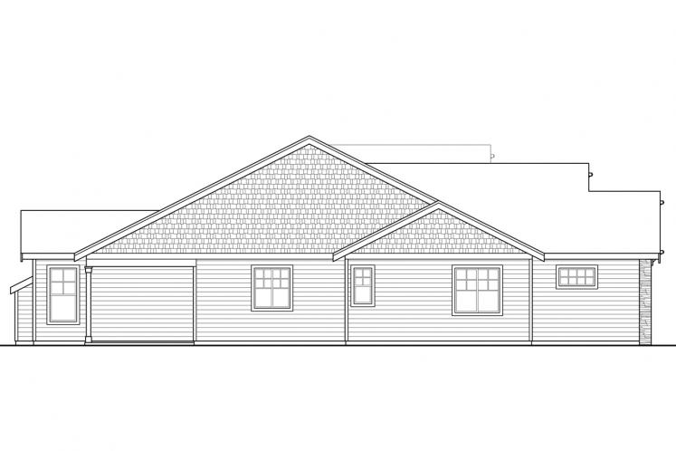 Ranch House Plan - Brookstone 40252 - Left Exterior
