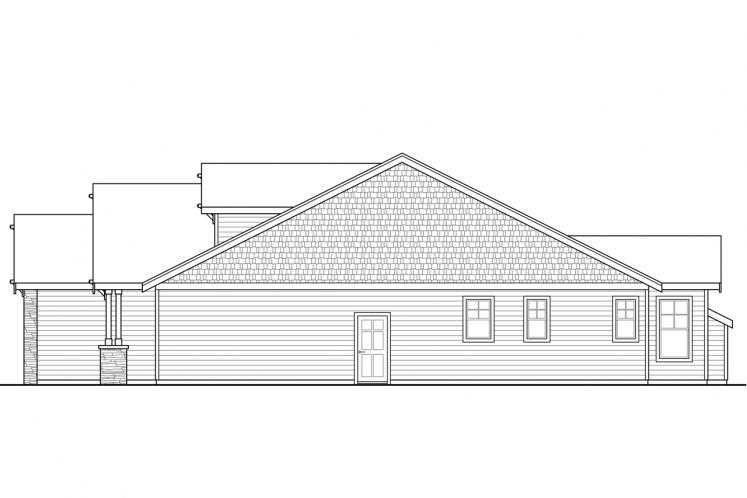 Cottage House Plan - Brookstone 40252 - Right Exterior