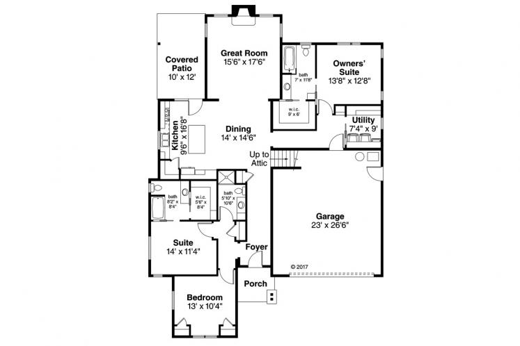 Country House Plan - Brookstone 40252 - 1st Floor Plan