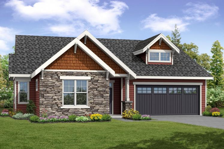 Cottage House Plan - Brookstone 40252 - Front Exterior