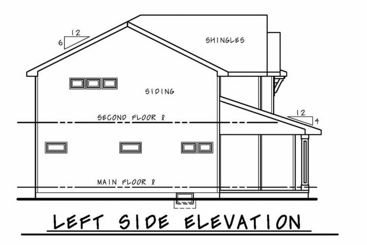 Craftsman House Plan - Ruby Springs 40274 - Left Exterior