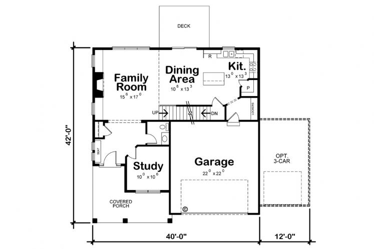 Craftsman House Plan - Ruby Springs 40274 - 1st Floor Plan