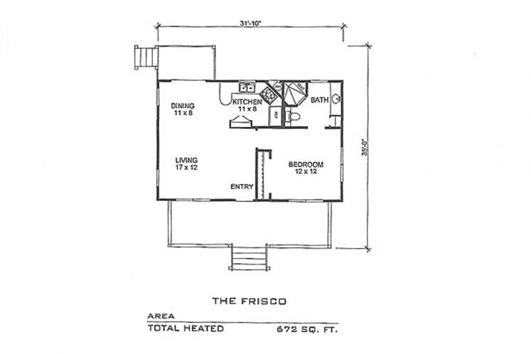 Country House Plan - Frisco 40280 - 1st Floor Plan