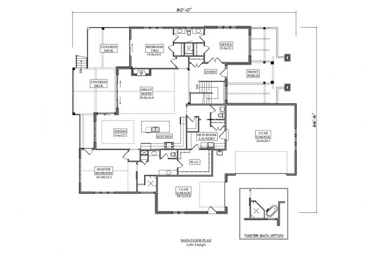 Craftsman House Plan - Sandpiper 40331 - Front Exterior