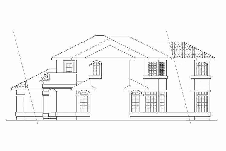 Southwest House Plan - Bellaire 40357 - Right Exterior