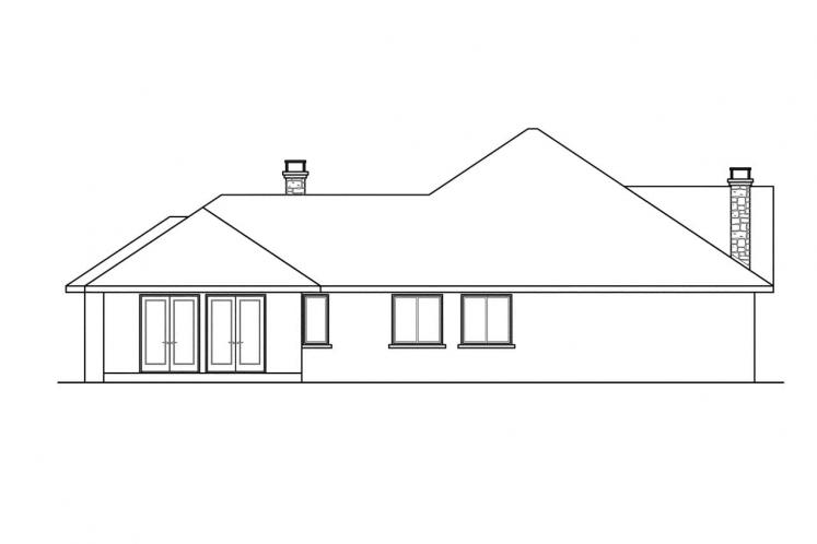 Ranch House Plan - Hillcrest 40404 - Right Exterior