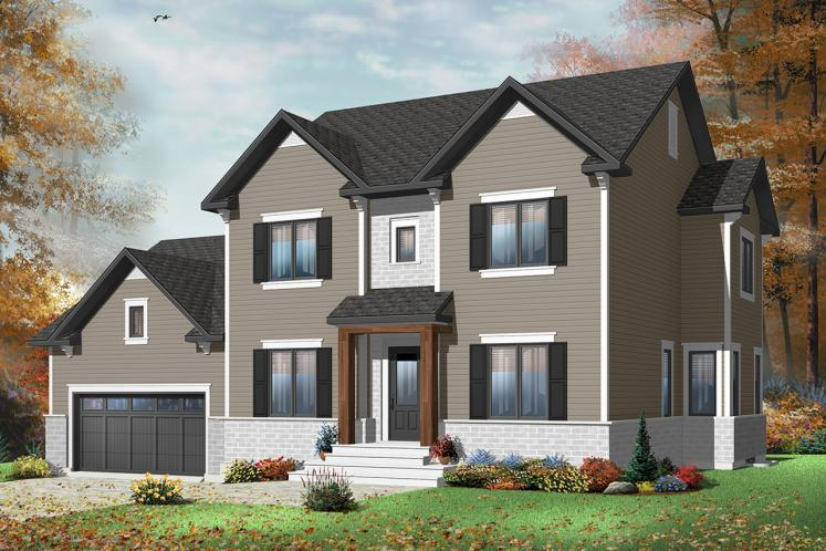 Country House Plan - Gloria 40407 - Front Exterior