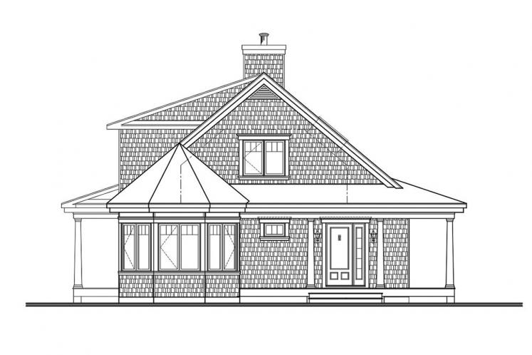 Cape Cod House Plan - Florence 2 40487 - Front Exterior
