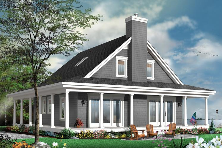 Country House Plan - Florence 2 40487 - Rear Exterior