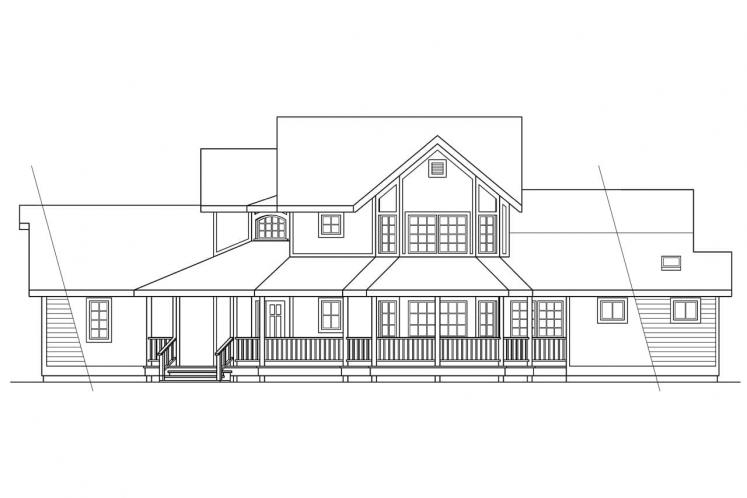 Traditional House Plan - Hearthstone 40539 - Right Exterior