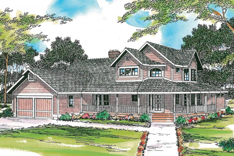 Country House Plan - Hearthstone 40539 - Front Exterior