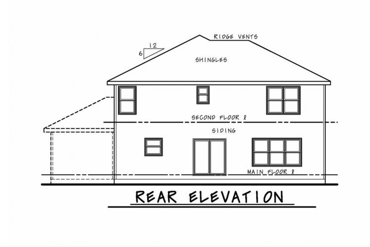 Cottage House Plan - Ruby Knoll 40588 - Rear Exterior