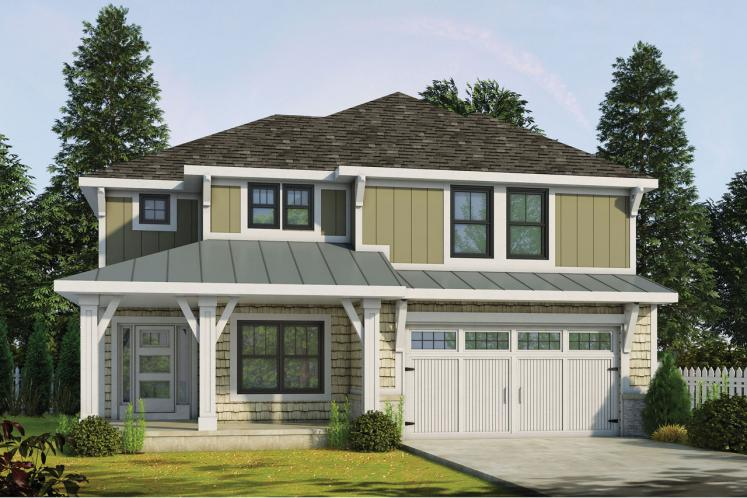 Craftsman House Plan - Ruby Knoll 40588 - Front Exterior