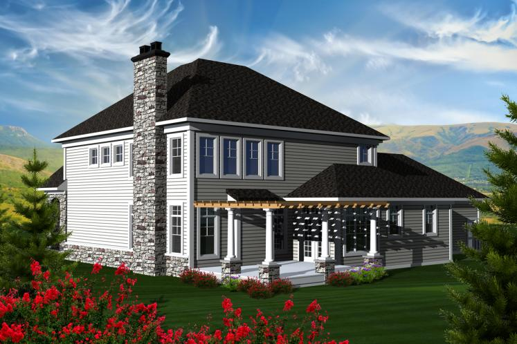 Classic House Plan -  40658 - Rear Exterior