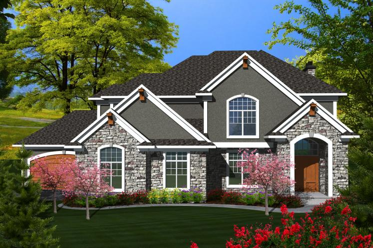 Traditional House Plan -  40658 - Front Exterior