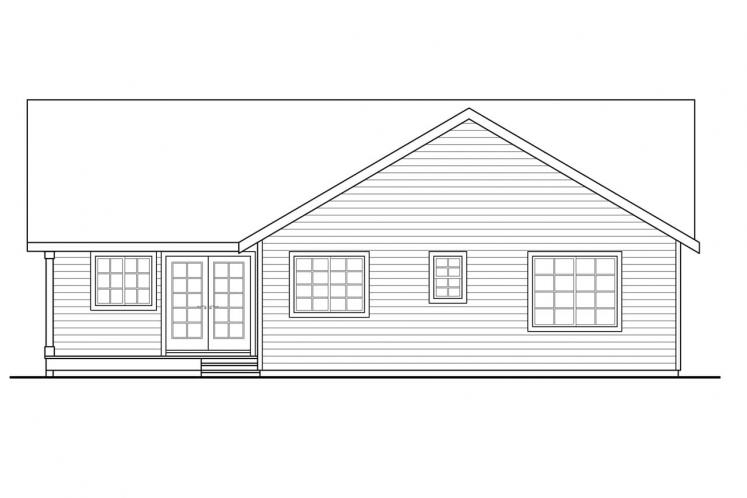 Country House Plan - Kenton 40813 - Rear Exterior
