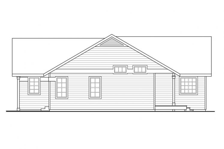 Ranch House Plan - Kenton 40813 - Right Exterior