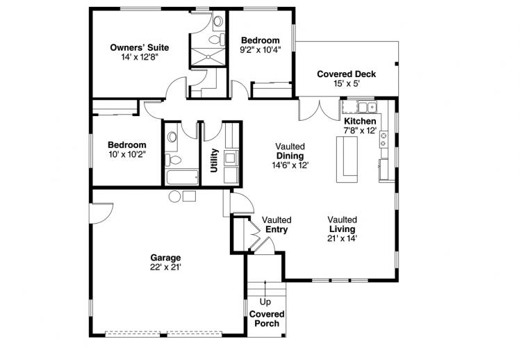 Country House Plan - Kenton 40813 - 1st Floor Plan