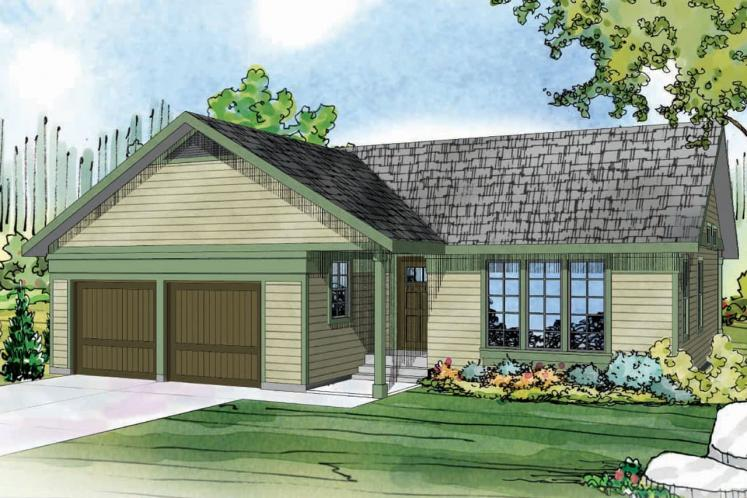Ranch House Plan - Kenton 40813 - Front Exterior