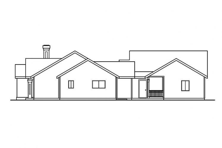 Ranch House Plan - Kingsley 40833 - Right Exterior