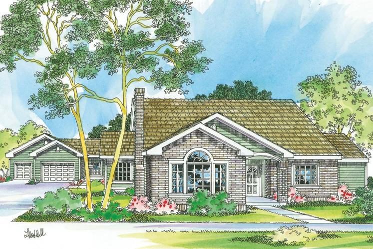 Ranch House Plan - Kingsley 40833 - Front Exterior