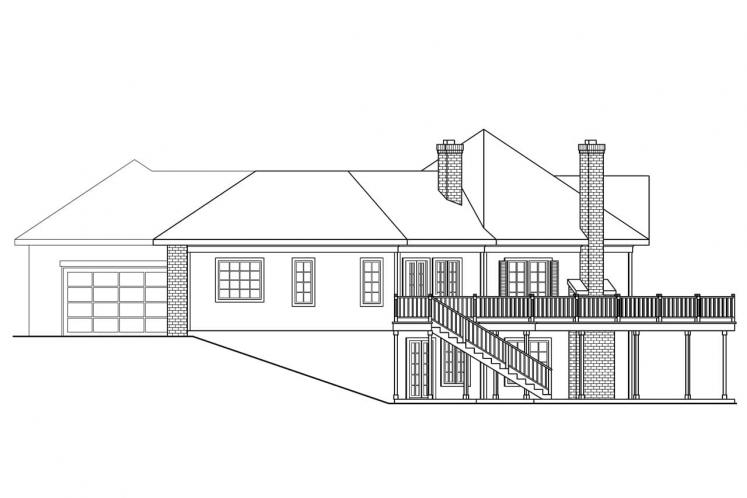 Traditional House Plan - Linfield 40938 - Right Exterior