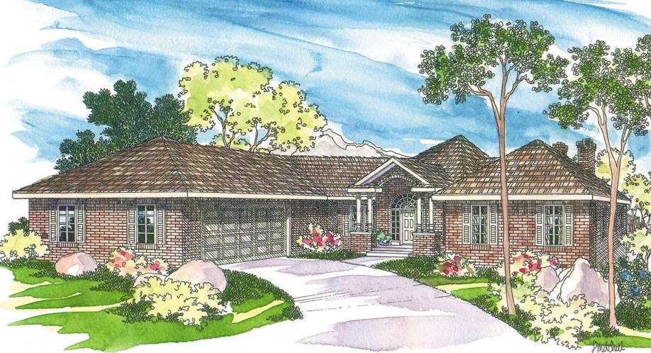 Traditional House Plan - Linfield 40938 - Front Exterior