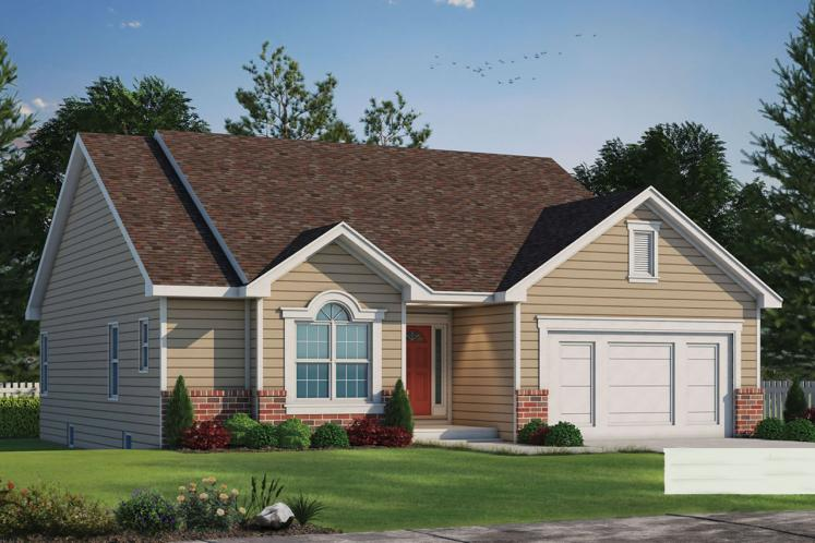 Ranch House Plan - Coleton 40998 - Front Exterior