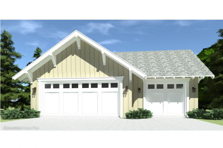 Craftsman House Plan - Clementine 41021 - Front Exterior