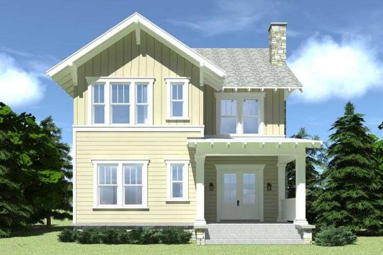 Country House Plan - Clementine 41021 - Rear Exterior