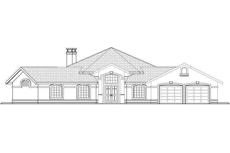 Spanish House Plan - Rosabella 41054 - Front Exterior