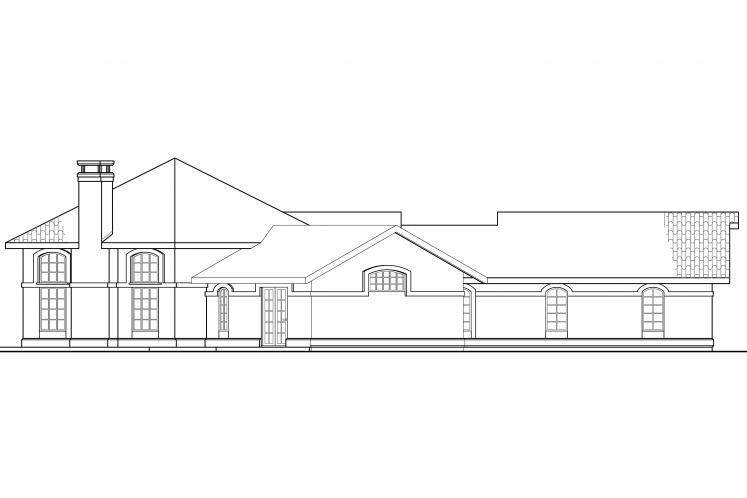 Tuscan House Plan - Rosabella 41054 - Left Exterior