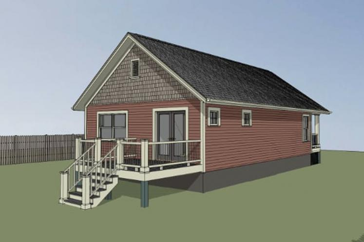 Bungalow House Plan -  41103 - Left Exterior