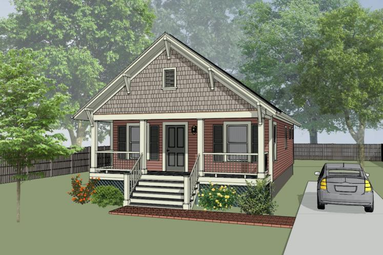 Cottage House Plan -  41103 - Front Exterior
