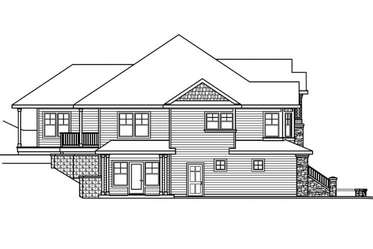 Traditional House Plan - Pennington 41108 - Left Exterior