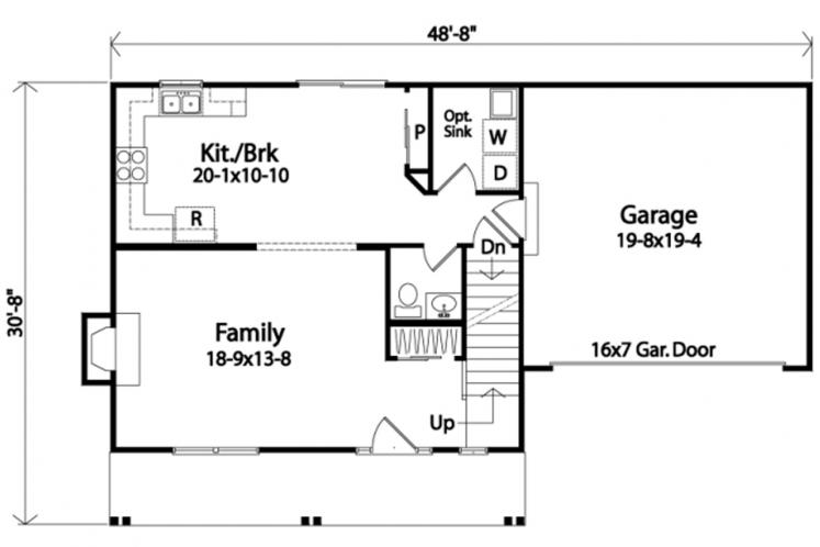 Traditional House Plan -  41204 - 1st Floor Plan