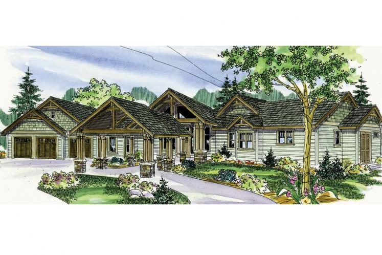 Craftsman House Plan - Woodcliffe 41214 - Front Exterior