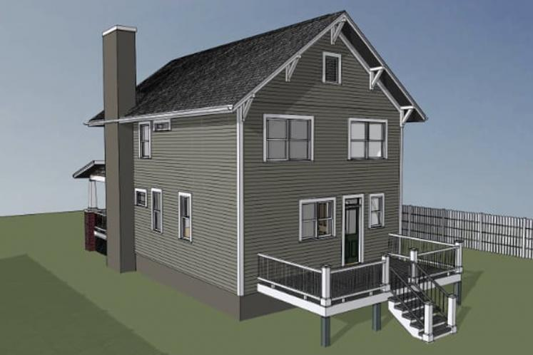Cottage House Plan -  41237 - Right Exterior
