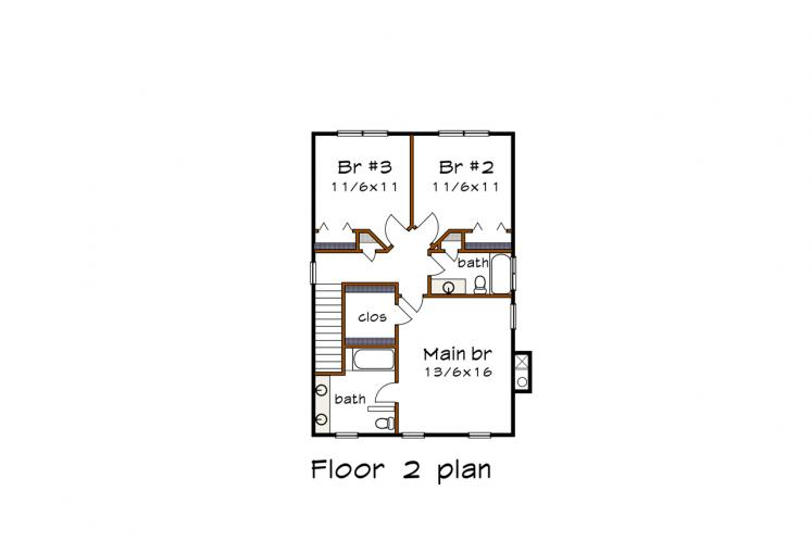 Country House Plan -  41237 - 2nd Floor Plan
