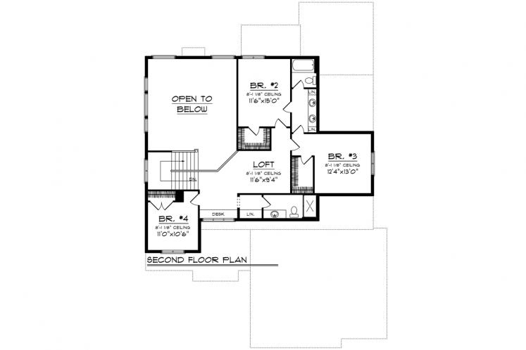 Contemporary House Plan -  41249 - 2nd Floor Plan