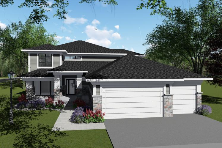 Contemporary House Plan -  41249 - Front Exterior