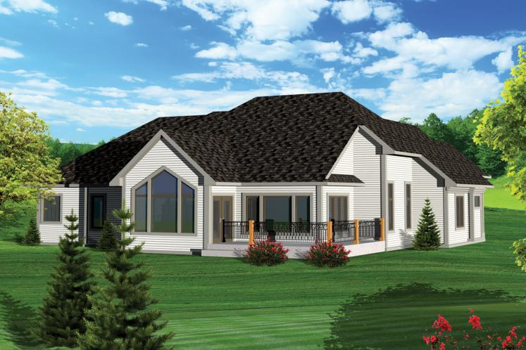 Country House Plan -  41292 - Rear Exterior