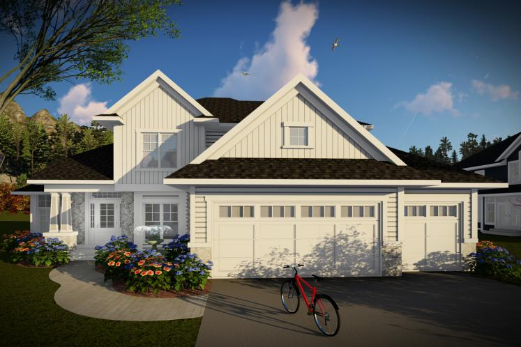 Traditional House Plan -  41350 - Front Exterior