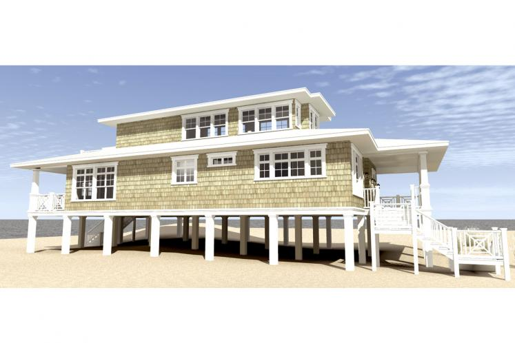 Southern House Plan - Sea Oats 41459 - Left Exterior