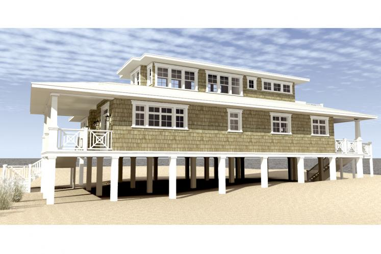 Cape Cod House Plan - Sea Oats 41459 - Right Exterior
