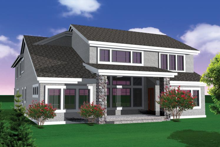 European House Plan -  41535 - Rear Exterior